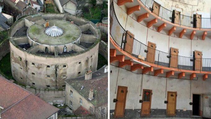 Prison panoptique construite en 1854 -1856 et fermée en 1956.